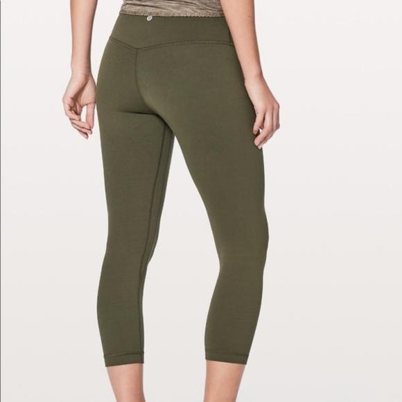 6556e08b49c9 lululemon athletica Pants - LULULEMON Align Crops Army Olive Green Pants 8  LLL